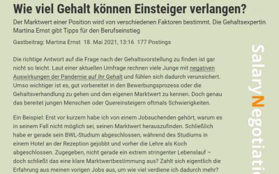 Der Standard Karriere 18.5.2021: Salary talks – no taboos!