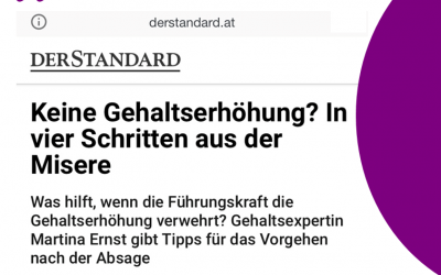 Salary negotiations – a no is far from a no – 4 steps out of the misery – Der Standard 29.06.2021