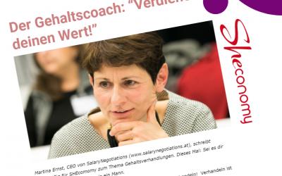 """Der Gehaltscoach: """"Verdiene deinen Wert!"""" – Sheconomy 11.06.2021"""