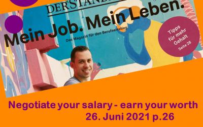 Erfolgreich das erste Gehalt verhandeln – Der Standard Juni 2021