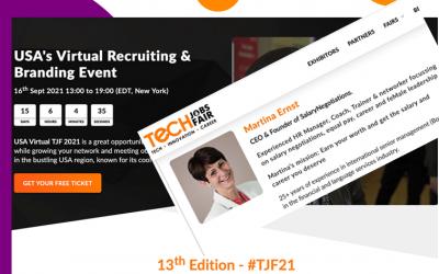 Techjobsfair – USA's Virtual Recruiting & Branding Event – 16.9.2021