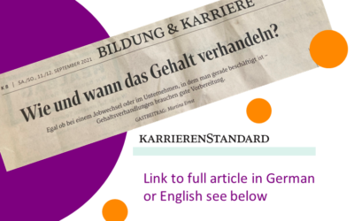 Talking is silver, silence is gold – the best time for salary negotiations  – Der Standard 11.09.2021