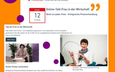 Nicht um jeden Preis – Erfolgreiche Preisverhandlung – Online Talk FidW Wien – 12.10.2021