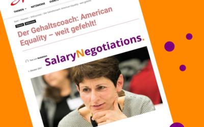 Der Gehaltscoach: American Equality – weit gefehlt! – Sheconomy 01.10.2021